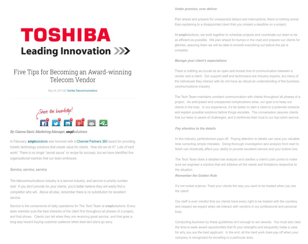 Blog Toshiba