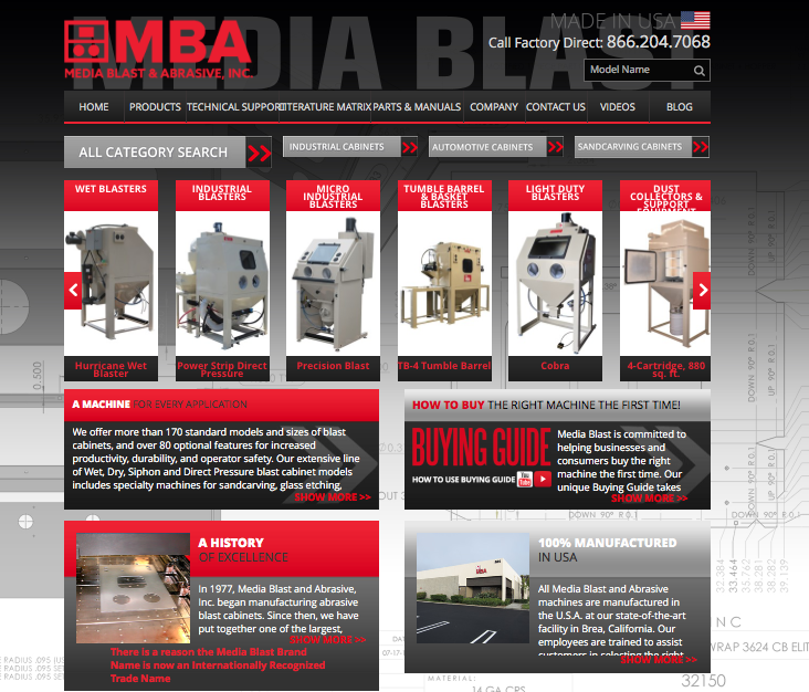 Media Blast & Abrasive Website